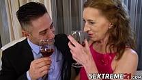 Cum eating granny seduces y. stud into passionate sex