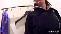Charming czech nympho is seduced in the hypermarket and plowed in pov