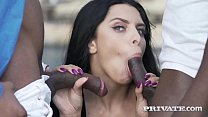 Private.com -Big Titty Kira Queen Cummed On By 2 Black Cocks