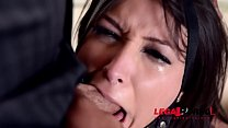 Curvy submissive Akasha Cullen gagged, spanked & Hardcroe double penetrated GP886 thumbnail