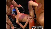 Threesome turns into bukkake, Fuq hub thumbnail