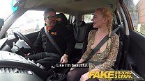 Fake Driving School Blonde Polish babes pussy gets slammed Preview