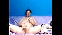 Naughty Grandma With Big Tits Masturbates Vorschaubild