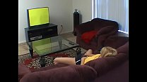Masturbating in front of the tv - real orgasm - echt Vorschaubild