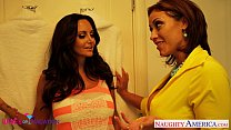 Busty wives Ava Addams and Eva Notty sharing a large prick Preview