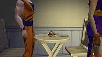 Milk Esposa Perra Follada Por Vegeta Mientra Habla por Teléfono Con Su Marido Goku Netorare Hentai صورة