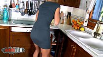 Pornstar Erica Ftes fucked in the ass in the kitchen by young guy - 9Club.Top