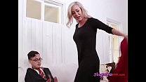 MILF Enjoys Muffdiving By Daughters BF After Blowing Him's Thumb