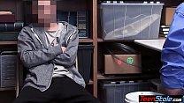 MILF mall cop Rachael Cavalli catches and fucks a thief thumbnail