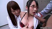 salman khanxxx video: Japanese co workers, Yui Hatano and Yoshimi Saaya, POV uncensored thumbnail