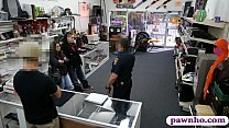 Two bitches try to steal at the pawnshop thumbnail