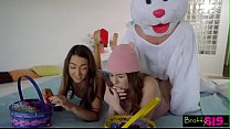 naughty Easter egg hunt with happy end for disguised stepbrother صورة