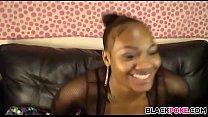 Ebony Babe With Big Boobs Masturbating