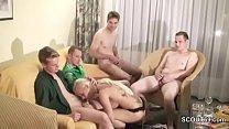 Privater Gangbang mit 5 Typen nach der Disco im Hotel Vorschaubild