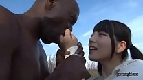 Japanese cute teen girl blowjob black man thumbnail