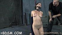 Elegant brunette cutie taking off her clothes completely
