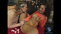 Mandy Bright and Maria Belucci stuffing two dildos on their wet cunt