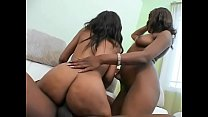 Erotic stud with huge dick loving as he fucks sexy babes Lacey DuValle and Nyeema Knoxxx hard