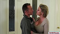 Horny milf squirts while fucking her guy