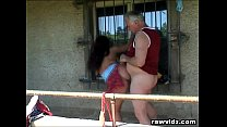 Grandpa Just Banged A Hot Busty Teen Outdoors Thumbnail