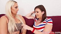 Busty Babe Nina Kayy Sucks & Fucks Big Cock With Sara Jay! Preview