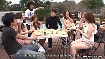 Summer Asian girls sucking on cocks in the sunny outdoors video