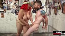 BBW Femdom Humiliates Sub Before Using His Cock