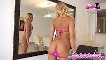 Analsex vor dem Spiegel mit junger deutscher amateur Blondine Vorschaubild