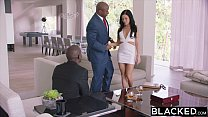 BLACKED Hot Megan Rain Gets DP'd By Her Sugar Daddy and His Friend thumbnail