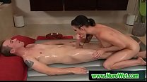 Busty masseuse sucking fat cock during nuru massage - Kendall Carson & Jessy Jones