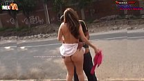 THEY SURPRISE IT HAVING SEX IN THE STREET AND IT ESCAPES OF THE POLICE THE PROSTITUTE OF MEXICO DANNA HOT
