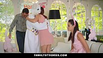 FamilyStrokes - Cute Teen Fucked By Easter Bunn... Thumbnail