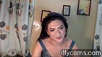 Brunette videochat on club music [음악 Music]