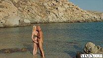 VIXEN Kendra Sunderland passionate sex on a beach thumbnail