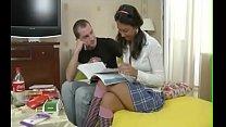 Russian Schoolgirl Deep Anal Fuck