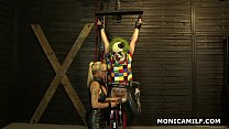 Kinky Norwegian MonicaMilf is pegging the dirty clown upside down Vorschaubild