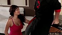 Teen pussyfucked by stepdad on massage table pornhub video