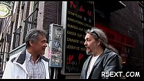 Smoking hot hooker gets her ravishing shaved cunt gangbanged hard