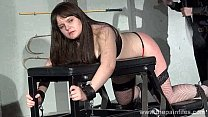 Lisas amateur spanking and rigid caning of chubby slaveslut strapped to a whippi