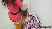 Flirty sweetie is taken in butthole asylum for awkward treatment