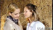 Lascivious lesbos have pleasure