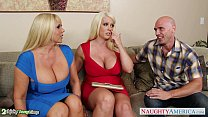 Busty Alura Jenson fuck in threesome thumb