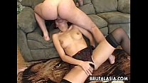 Seductive Japanese hottie fucks with four horny dudes Preview