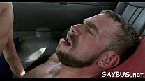 Lusty blowjob with a sexy gay