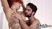 Busty redhead gets doggystyled roughly by husbands friend thumbnail