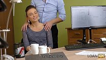 LOAN4K. Fraces likes new loan agent so agrees to fuck for money - download porn videos