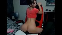 HORNY teen chick riding dildo in her chair