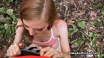Sloppy blowjob in the park by broke teen tumblr xxx video