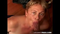 Chubby Granny Sucks Young Cock preview image