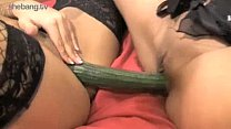 Horny Girls Tia Lolita & Louise Kay Plays With Cucumber